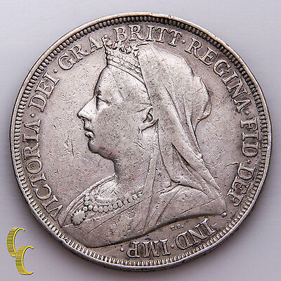 1896 Great Britain Crown Silver Coin, KM# 783