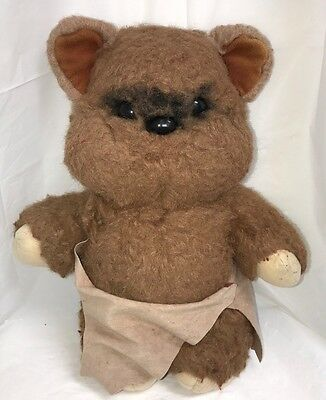 "Vintage Kenner Star Wars Wicket The Ewok Return Of The Jedi 15"" Plush 1983 Cape"