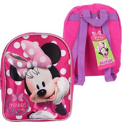 1 Disney Junior Minnie Pink One Compartment Backpack # 19775