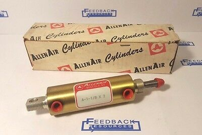 "New Allenair A-1-1/8 X 2 Double Action Air Cylinder 1-1/8"" Bore 2"" Stroke - NIB"