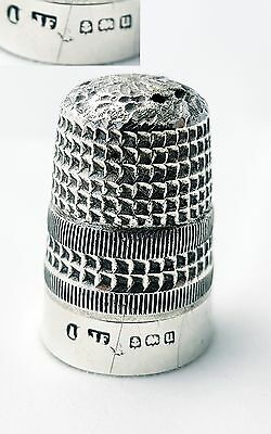 Antique Sterling Silver Thimble James Fenton Birmingham 1919