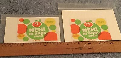 Vintage 2 Soda Label Nehi Orange Soda One Way Bottle