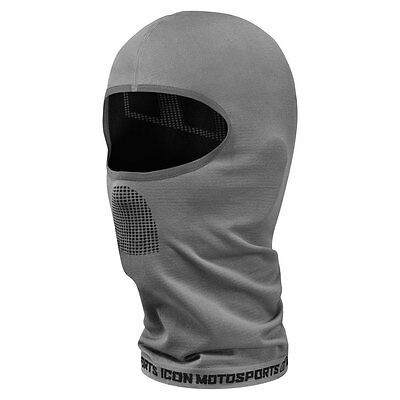 2017 Icon Performance Gray Full Face Balaclava Motorcycle Riding Gear