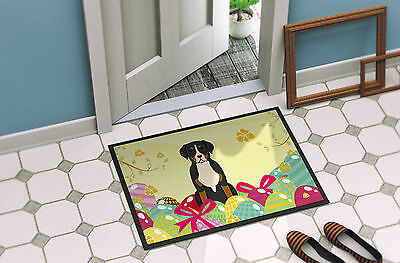 Easter Eggs Greater Swiss Mountain Dog Indoor or Outdoor Mat 18x27