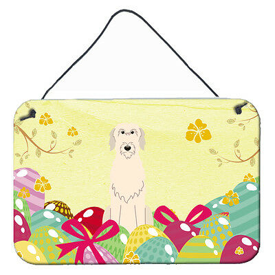 Easter Eggs Irish Wolfhound Wall or Door Hanging Prints