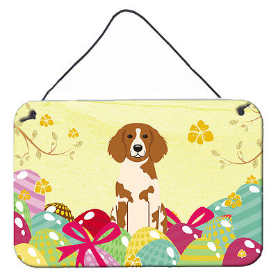 Easter Eggs Brittany Spaniel Wall or Door Hanging Prints