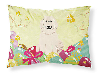 Easter Eggs Great Pyrenese Fabric Standard Pillowcase