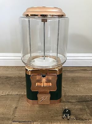 New Green Gold Vendworx 25 Cent Candy Dispensing Machine Gumball
