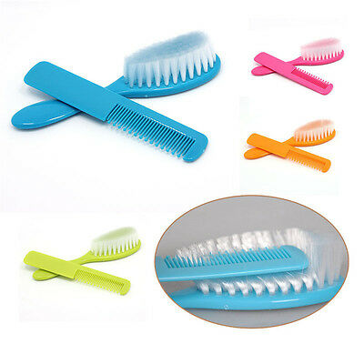 2PCS Baby Safety Soft Hair Brush Infant Comb Grooming Shower Design Pack Kit