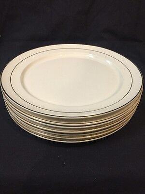 "Set Of 7 Vintage W. S. George Derwood 10"" Dinner plates EUC"