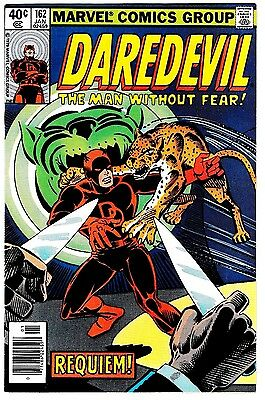 DAREDEVIL #162 (VF/NM) Steve Ditko Cover & Interior Art! Man Without Fear! 1980