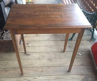 Vintage Wood Rectangular Small Table , 29x19x31 Approximately,