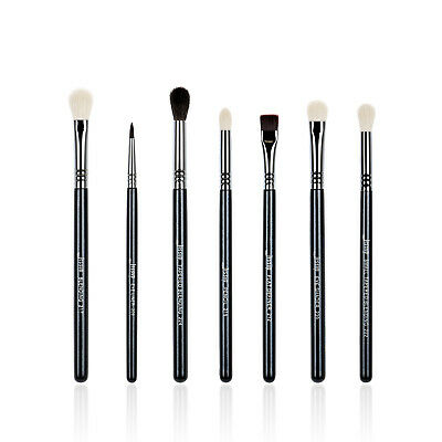 US Jessup 7pcs Pro Makeup Brushes Set Blending Eyeshadow Cosmetics Brush Black