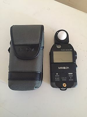 Minolta Flash Meter V Light Meter M-CLR S/A/H With Case FREE SHIPPING !