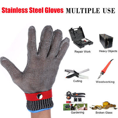 Steel Wire Mesh Butcher Glove Level 5 Safety Anti-Cut Stab Stainless Resistant