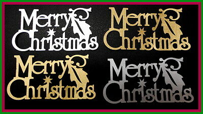 4 *MERRY CHRISTMAS*  Die-cuts- GOLD & SILVER *Scrapbooking/Cardmaking