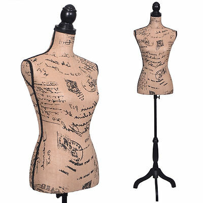Female Mannequin Torso Dress Form Display W/ Black Tripod Stand  New