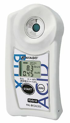 New!! Atago Pocket Refractometer PAL-BX/ACID2 Wine Grape Saccharimeter Digital