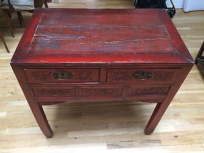Antique Chinese Red High Table