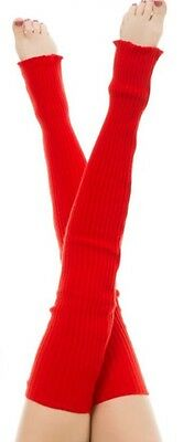 American Apparel Thigh High Long Leg Warmer~RSALWL Scarlet Red Dance-wear