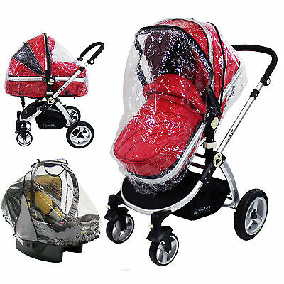 Quality Universal Buggy Pushchair Stroller Pram Transparent Rain Cover Baby UK