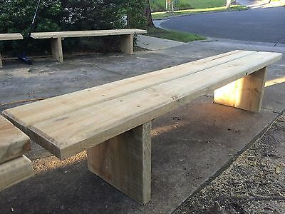 Hand Made Outdoor Treated Pine Timber Bench Seat