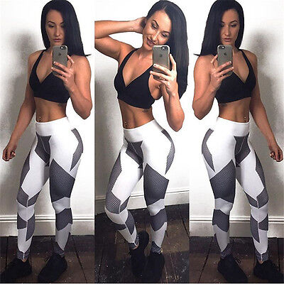 Womens Yoga Workout Gym Leggings Fitness Sports Trouser Athletic Nice Pants