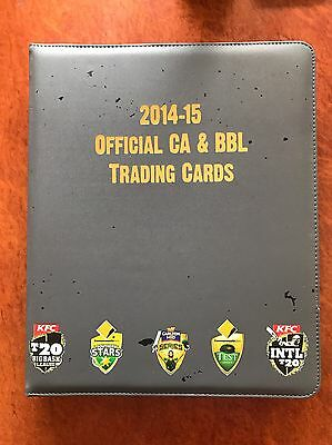 Tap N Play 2014/2015 Cricket Australia BBL Album And Full Base Set Cards Rare
