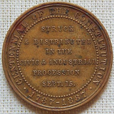 September 15 1887 Loudon Snowden Civic Industrial Procession Token Medal