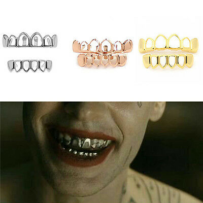Gold Grillz 24k Plated Teeth Mouth Grills Bling Hip Hop Gangsta Gangster New