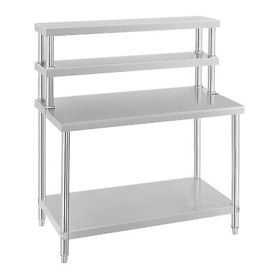 Work Table Stainless Steel Work Bench And Shelves Prep Desk And Storage Upstand