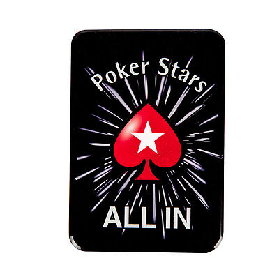 Crystal Black ALL IN Button Texas Hold'Em Poker Card Game Supply Tournament Prop