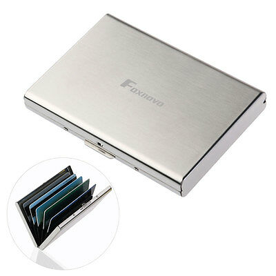 Aluminum Metal Wallet Thinly Credit Card Holder Protection Case IMS RFID Block