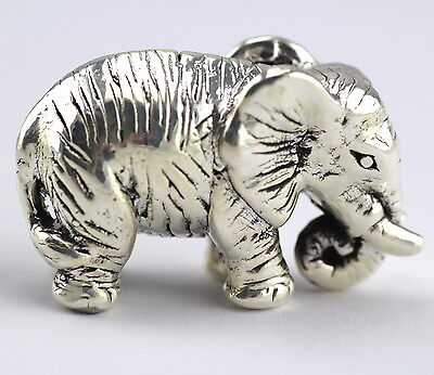 Collectable Novelty Large Elephant Figurine 925 Sterling Silver Hallmarked