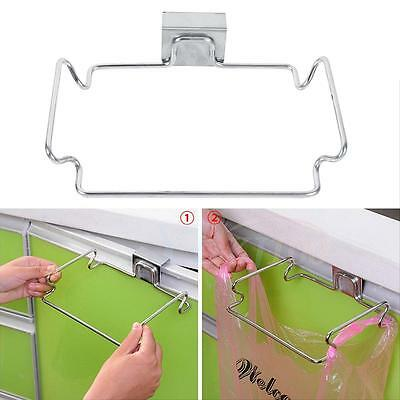 Sturdy Garbage Bag Holder Storage Trash Hanger Rack Door Cupboard Kitchen Tool