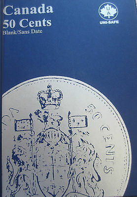 Complete Set of Canada Half Dollars Coins (1968-2014) in Blue Uni-Safe Folder