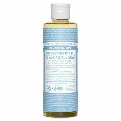 Dr Bronners - 18 in 1 Pure Castile Baby Unscented Liquid Soap