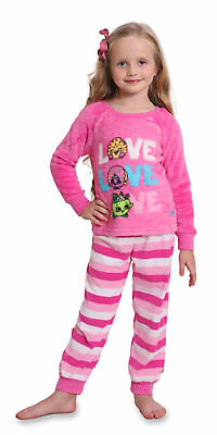 Shopkins Girls' Luxe Plush 2-Piece Pajama Snuggle Set