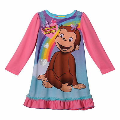 Curious George Girls Long Sleeve Nightgown Pajamas (Toddler)