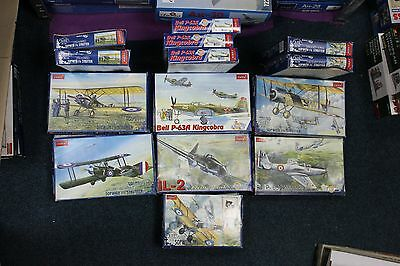 Exclusive Mixed Lot Of 21 Kits Plastic Aircraft Model Kit Wwi And Wwii 1/72 Toko