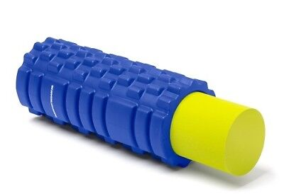 Massagerolle Faszienrolle Therapierolle Fitnessrolle 2 in 1 - 33x14 cm