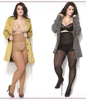 Plus size Tights LIDA 40 DEN Over Size 2XL to 5XXL Hips up to 170 cm