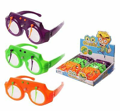 Wind Up Moving Wacky Wipers FUNNY GLASSES Fancy Dress Party Disco Accessory