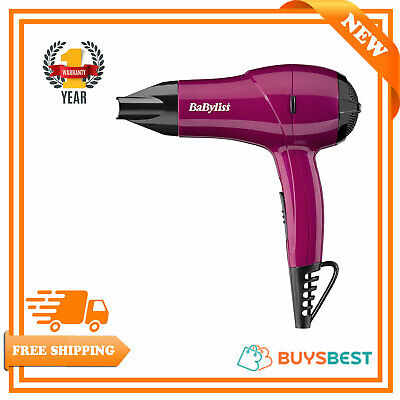 BaByliss Womens Nano Travel Portable Hair Dryer, Pink, Dual Voltage - 5282BAU