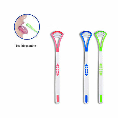 Quality Tongue Scraper Oral Hygiene Care Bad Breath Freshener Cleaner Brush Tool