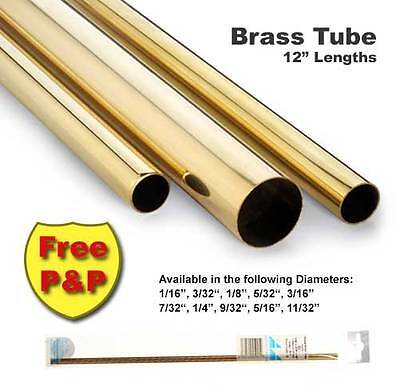 Brass Tube - Various Diameters ( between 1mm & 9mm ) - 305mm long FULLY STOCKED!