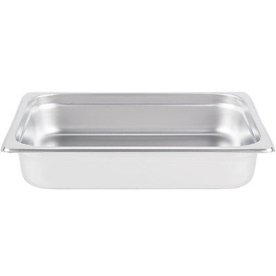 "Half Size Stainless Steel 2 1/2"" Deep Steam Prep Table Chafing Dish Food Pan"