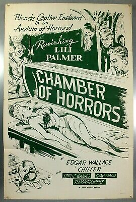 Chamber Of Horrors - Edgar Wallace - Original American One Sheet Movie Poster