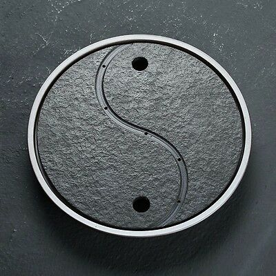 Black Pottery Yin and Yang Tea Tray for Chinese Kung fu Tea Ceremony Gongfu Cha