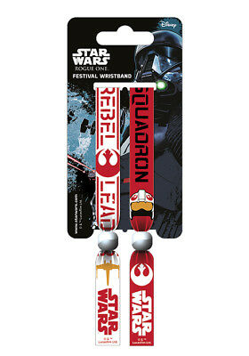 Star Wars Rogue One Rebel Leader Festival Wristband Bracelet Official